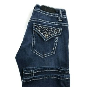 Vigoss Bootcut Embellished Blue Stretch Jeans